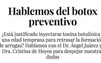La Dra. Cristina de Hoyos despeja las dudas sobre el botox preventivo en Vogue
