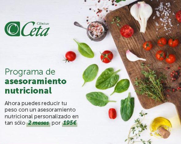Programa Asesoramiento Nutricional - Clínicas CETA