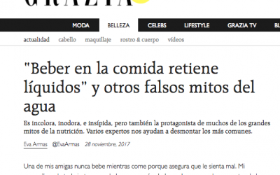 """""""Beber en la comida retiene líquidos"""" y otros falsos mitos del agua- Grazia.es"""