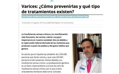 Varices: ¿Cómo prevenirlas y qué tipo de tratamientos existen? Vivesaludable.es