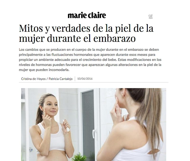 Mitos y verdades de la piel de la mujer durante el embarazo- Marie Claire