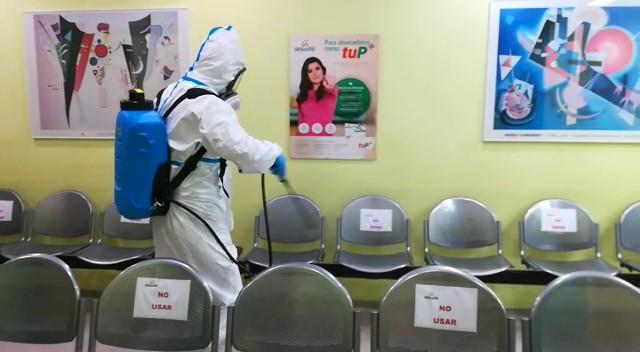 COVID: Grupo Medicentro y CETA desinfectando todas sus instalaciones